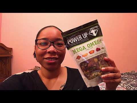 Power Up Mega Omega NonGMO Gluten Free Vegan Trail Mix   Review!