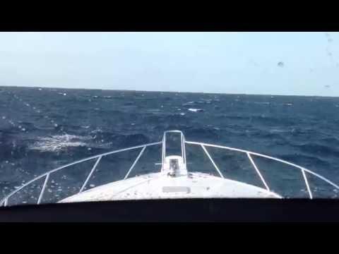 Viking 61 and Symbol 68 in rough seas