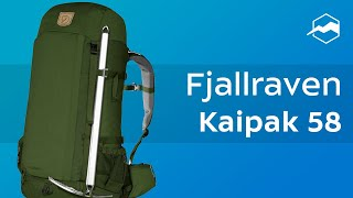 Туристический рюкзак Fjallraven Kaipak 58. Обзор