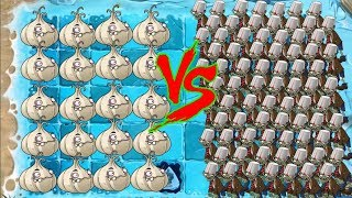 Plants vs Zombies 2 - Garlic and all peas vs all Zombies