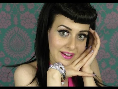 pin up girl hair roll tutorial katy perry bettie page bangs fringe