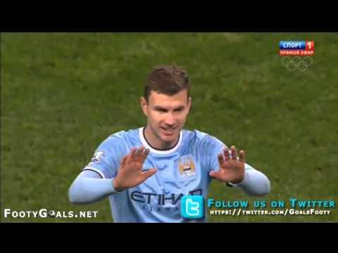 Manchester City 3 0 Blackburn Rovers Goal Edin Dzeko Dzekooo.