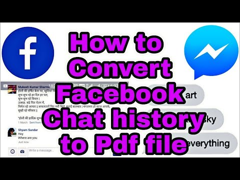 How To Convert Facebook Chat History To Pdf File