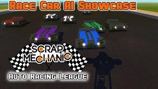 Scrap Mechanic Auto Racing League Introduction! AI Race Cars, Lap Timers and More!
