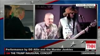 GG Allin plays the Trump Inauguration