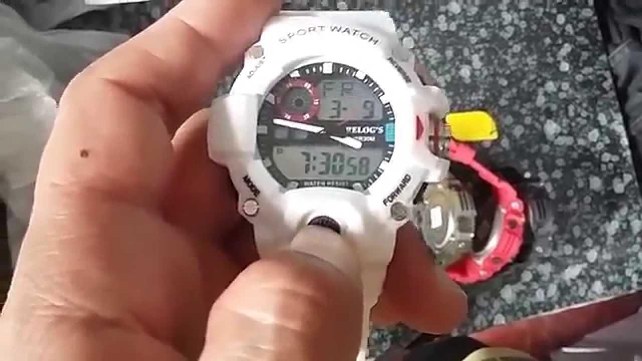 ef8a7081915 Relógio Sport Watch RR Relog s Analógico Digital Relogs - Giga Store -  YouTube