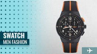 Swatch Men Fashion [Hot New Arrivals 2018]: Swatch Men's Watch Chronograph Laseray SUSA402