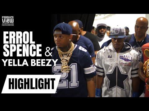 Errol Spence Jr. & Yella Beezy Full Walkout with Dallas Fan Reactions