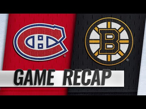 Price, Canadiens shut out Bruins in 3-0 win