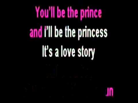 Love Story ( karaoke, with lyrics )