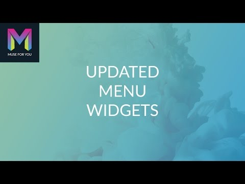Updated Menu Widgets | Adobe Muse CC | Muse For You