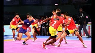 Pro Kabaddi 2018: Dabang Delhi vs Gujarat FortuneGiants (32-32) Match Highlights [Hindi]