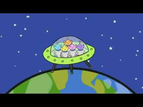 5 Little Men in a Flying Saucer Sing Along Animation - www.twinkl.co.uk