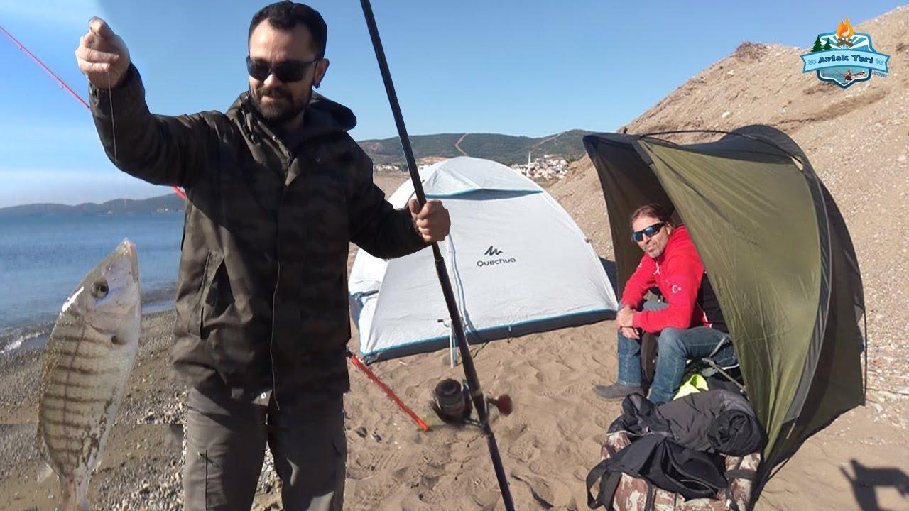 Ürkmez'de Kamp ve Balık!! Güzelbahçe'de Kalamar ve Sübye!!- 15 Şubat 2020