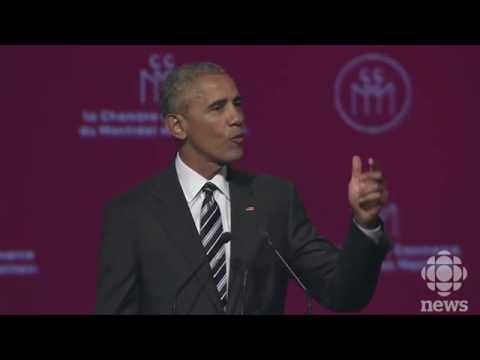 Barack Obama Speech In Montreal  06 06 17