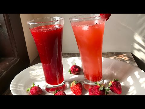 Strawberry soda with homemade strawberry crush recipe