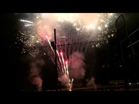 Fireworks at Black Rock Speedway on July 3 2015