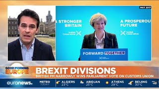Brexit Divisions: British PM Theresa May narrowly wins Parliament vote on Customs Union