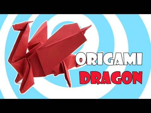 tutorial membuat origami naga