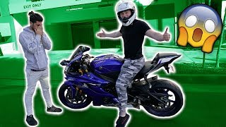 MY FIRST TIME RIDING A STREET BIKE... (BAD IDEA)