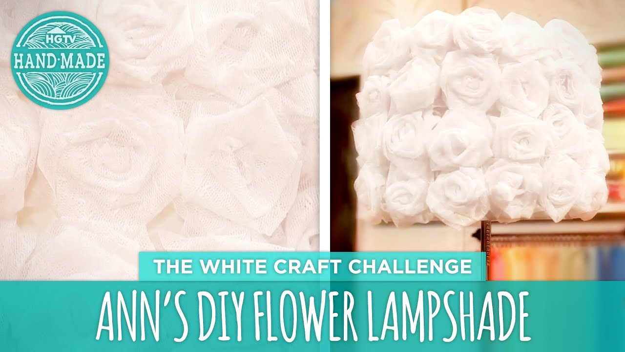 Anns diy flower lamp hgtv handmade white craft challenge youtube mozeypictures Choice Image
