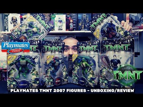 PLAYMATES TMNT MOVIE 2007 TOYS - UNBOXING / REVIEW EN ESPAÑOL + COSAS QUE QUIZÁS NO SABIAS