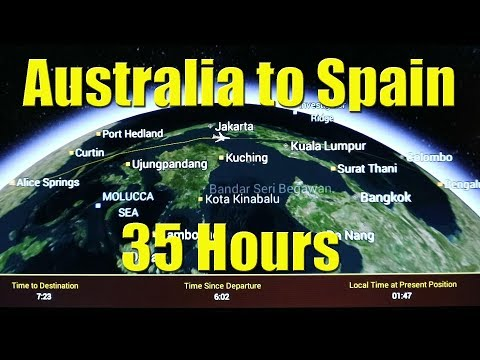 Business class flights Australia to Europe - Our epic 18,600km trip - Sailing A B Sea (Ep.003)