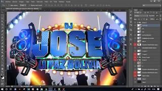 COMO HACER UN BANNER PARA UN DJ FACIL CON NOMBRE EN 3D