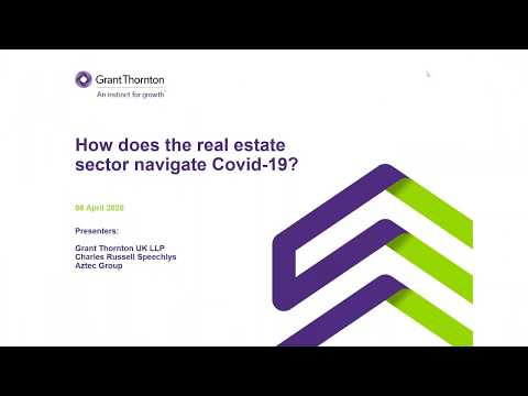 Webinar: How Does The Real Estate Sector Navigate COVID-19?