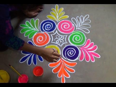 Sankranthi melika muggulu with 7x4 dots  /Pongal kolam designs / Rangoli designs