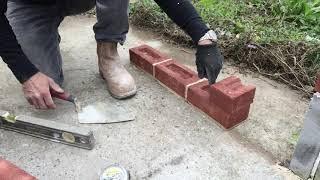 the fine art of brickwork - Basic Skills - Lesson 3