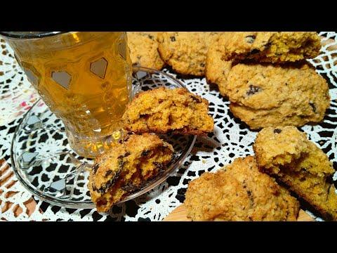 recette-cookies-sans-gluten-à-la-courge-كوكيز-الشوفان-واليقطين-بدون-غلوتين-لدايت-اطفال-التوحد