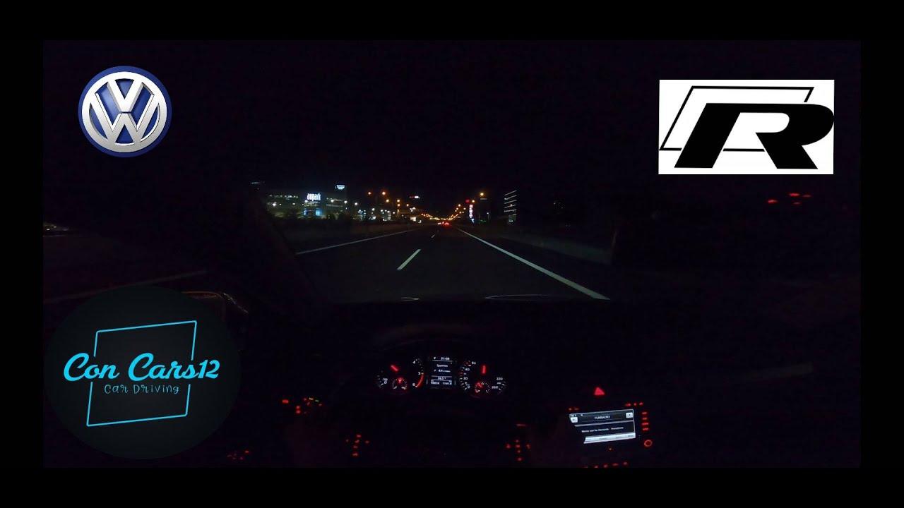 Download VOLKSWAGEN PASSAT B6 R-line 2010 night drive on freeway Bratislava.