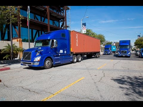 Truck Platooning Demonstration at the Port of Los Angeles