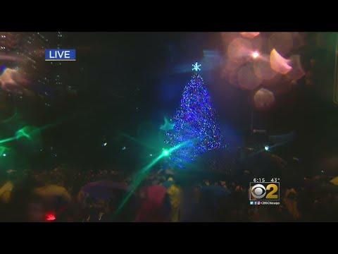 Christmas Tree At Millennium Park Is Lit