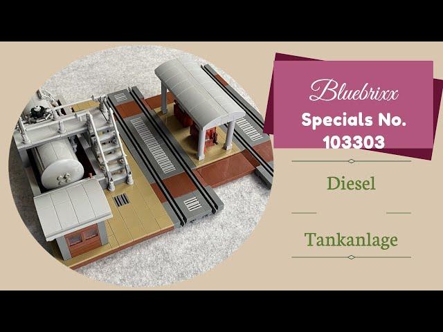 Bluebrixx Specials No.103303 Diesel Tankanlage - Ganz nett, Qualität passt - mehr aber auch nicht...