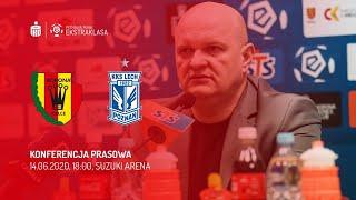 Konferencja prasowa po meczu Korona Kielce - Lech Poznań