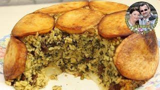 Рассыпчатый рис с мясом и зеленью. Персидский плов. Ну очень вкусно. Кухня в кайф.