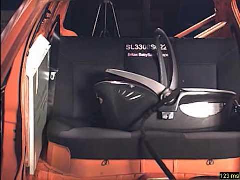 romer baby safe sleeper crash test front view youtube. Black Bedroom Furniture Sets. Home Design Ideas