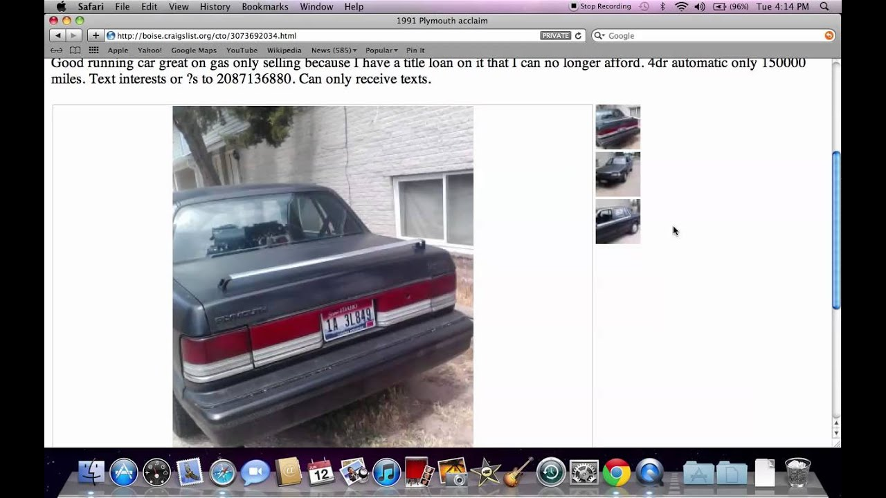 Craigslist boise idaho used cars for sale by owner models available under 1000 in 2012 youtube