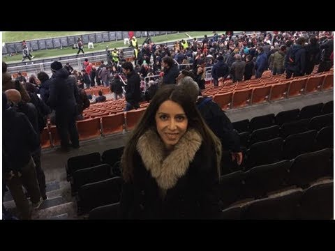 Henrikh Mkhitaryan's sister at Emirates stadium (PHOTO)