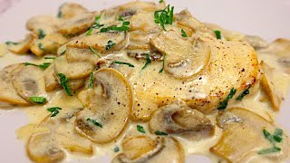 Chicken Breast with Mushrooms in a Creamy Sauce # 105