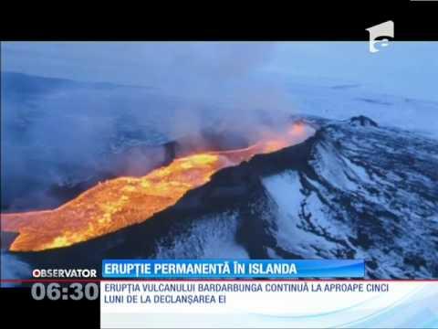 Erupţia unui vulcan continuă după 5 luni de la declanșarea ei. 85 de km pătraţi au fost acoper