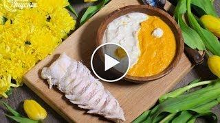 """Нежное мясо индейки в крем-супе """"Инь Янь"""" с капустой, морковью."""