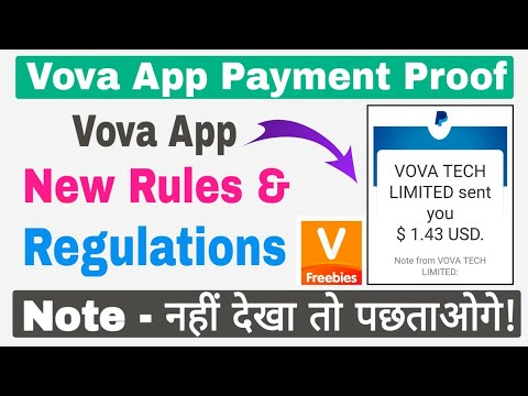 Vova App Payment Proof | Vova App New Rules & Regulations