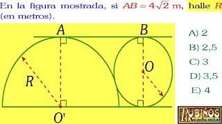 Examen Admisión a la Universidad UNI Relaciones Métricas Geometría Cepreuni Solucionario