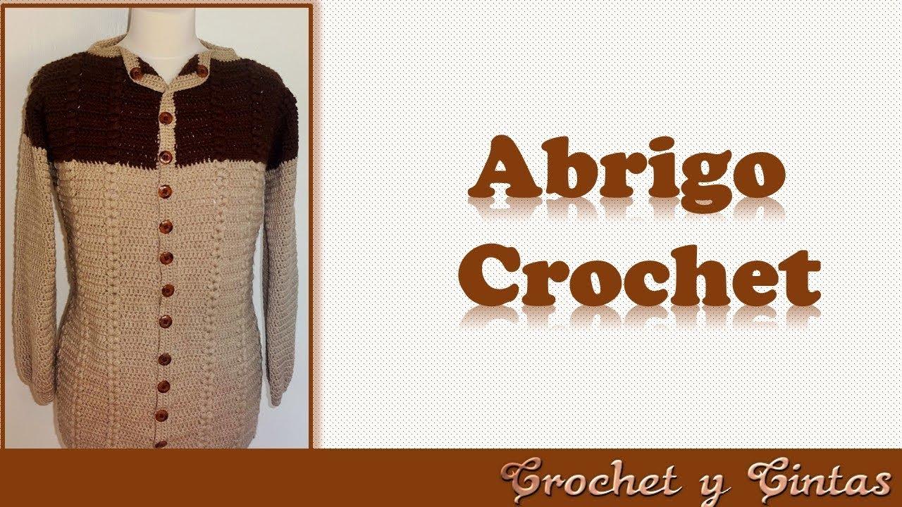 DIY Abrigo – cárdigan con punto espiga a crochet (3 de 3) - YouTube