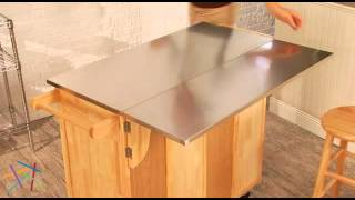Belham Living Milano Stationary Kitchen Island With Optional Stools - Product Review Video