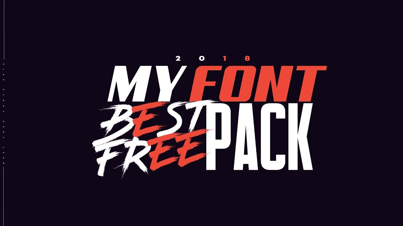 Best Free Fonts For Designers 2018 Youtube