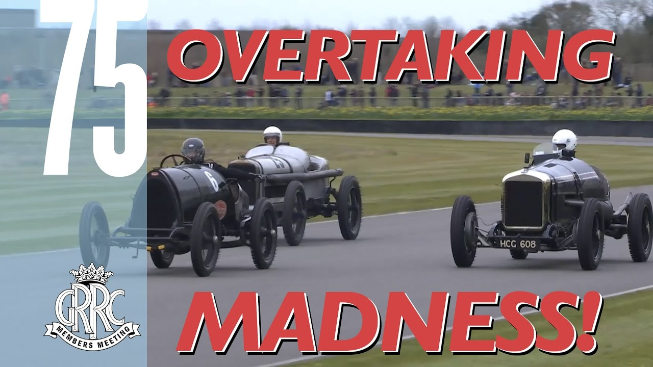 11 epic overtakes in mighty 100-year-old cars - YouTube